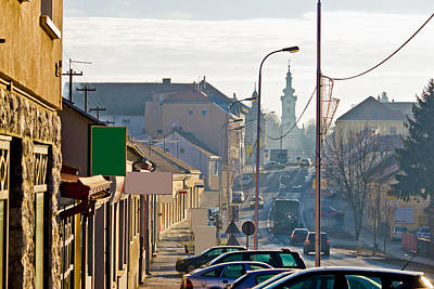 Photograph - Town Of Bjelovar Winter Streets by Brch Photography