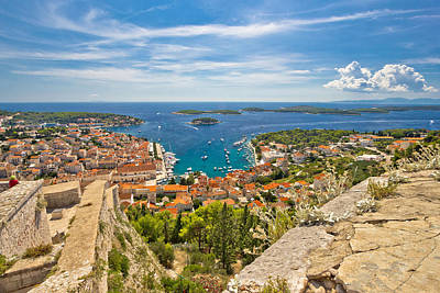 Photograph - Town Of Hvar And Paklinski Islands View by Brch Photography
