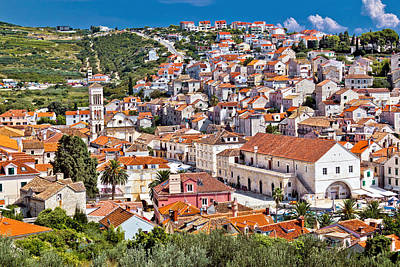 Photograph - Town Of Hvar Famous Pjaca Square View by Brch Photography