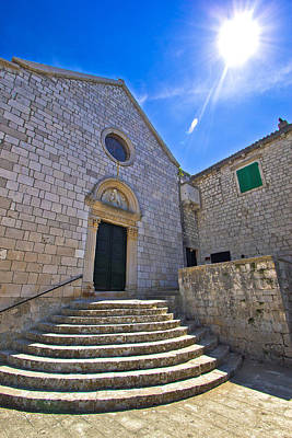 Photograph - Town Of Hvar Old Franciscan Monastery by Brch Photography