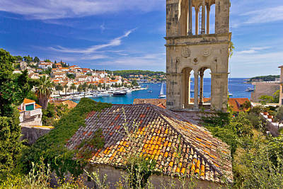 Photograph - Town Of Hvar Old Harbor View by Brch Photography