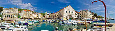 Photograph - Town Of Hvar Panoramic Waterfront View by Brch Photography