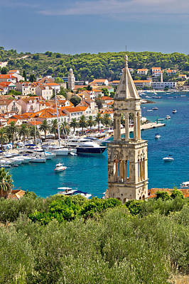 Photograph - Town Of Hvar Yacht Harbor by Brch Photography