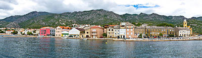 Photograph - Town Of Karlobag Panoramic Waterfront View by Brch Photography
