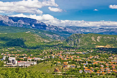 Photograph - Town Of Knin And Dinara Mountain by Brch Photography