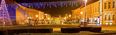 Photograph - Town Of Koprivnica Christmas Panorama by Brch Photography