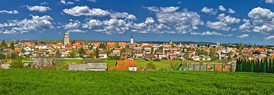 Photograph - Town Of Krizevci Colorful Panorama by Brch Photography