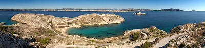 Featured Images Photograph - Town Of Marseille In The Background by Panoramic Images