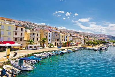 Photograph - Town Of Pag Colorful Waterfront by Brch Photography