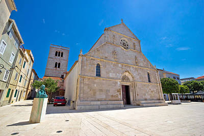 Photograph - Town Of Pag Main Square Cathedral by Brch Photography