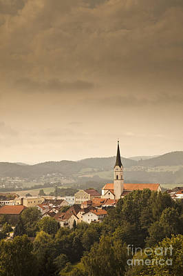 Town Of Schonberg Lower Bavaria Germany Europe Art Print