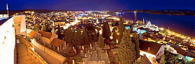 Photograph - Town Of Sibenik Evening Panorama by Brch Photography