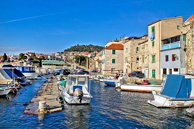 Photograph - Town Of Sibenik Old Fishermen Harbor by Brch Photography