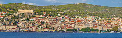 Photograph - Town Of Sibenik Waterfront Panorama by Brch Photography