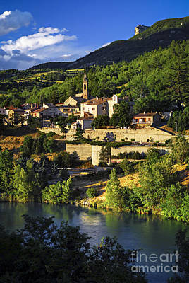 France Provence Photograph - Town Of Sisteron In Provence by Elena Elisseeva