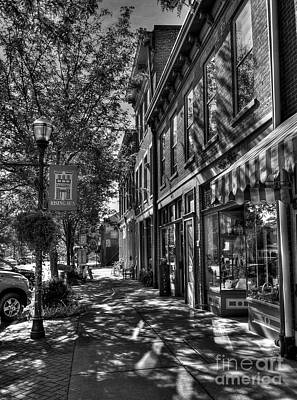 Photograph - Town Of The Rising Sun Bw by Mel Steinhauer