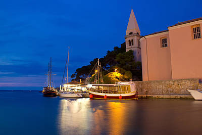 Photograph - Town Of Veli Losinj Church And Harbour by Brch Photography