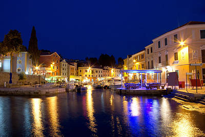 Photograph - Town Of Veli Losinj Waterfront Evening by Brch Photography
