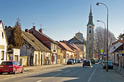 Photograph - Town Of Virovitica Street View by Brch Photography