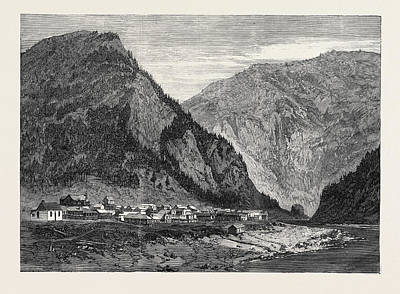 Town Of Yale British Columbia 1866 Art Print by English School