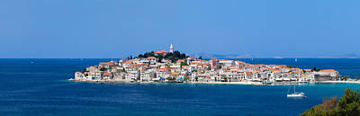 Town On A Coast, Primosten, Adriatic Art Print by Panoramic Images