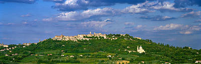 Town On A Hill, Montepulciano, Val Di Art Print by Panoramic Images