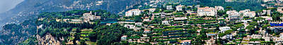 Ravello Photograph - Town On A Hill, Ravello, Amalfi Coast by Panoramic Images