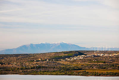 Town Overview From Cap Leucate Art Print by Panoramic Images