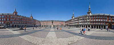 Town Square, Plaza Mayor, Madrid, Spain Art Print by Panoramic Images