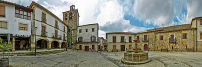 Town Square, Plaza Mayor Square, San Art Print