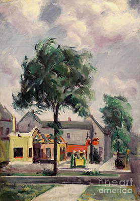 Painting - Town Street 1939 by Art By Tolpo Collection