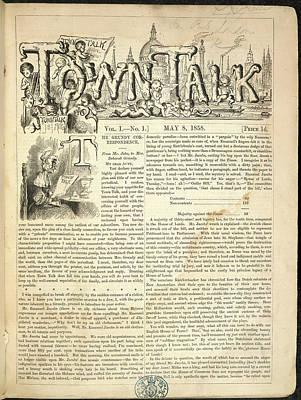 Town Talk Art Print by British Library