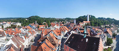 Townscape Photograph - Town View From Blaserturm Tower by Panoramic Images