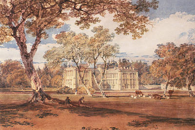 Towneley Hall, C.1798 Art Print by Joseph Mallord William Turner