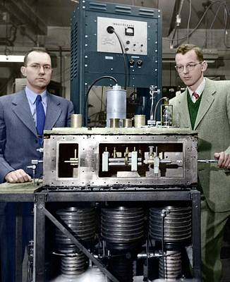 Ammonia Photograph - Townes-gordon-zeiger Maser by Emilio Segre Visual Archives/american Institute Of Physics