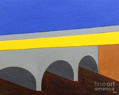 Covered Bridge Painting - Townscape 2 by Patrick J Murphy