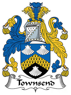 Townsend Coat Of Arms Irish Art Print by Heraldry