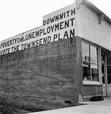Photograph - Townsend Plan, 1939 by Granger