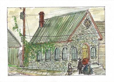 Painting - Township Hall by David Dossett