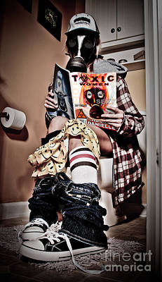 Toxic Bathroom Time Print by Jt PhotoDesign