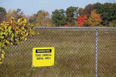 Toxic Dump Sign Art Print
