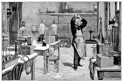 Toxicology Photograph - Toxicology Laboratory, 1893 by Science Photo Library