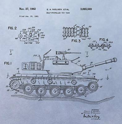 Toy Store Digital Art - Toy Army Tank Patent by Dan Sproul