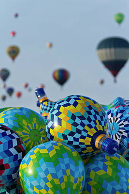 Hot Air Balloon Photograph - Toy Balloons At The Albuquerque Hot Air by William Sutton