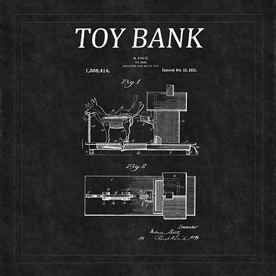 Airplane Paintings - Toy Bank Patent 16 by Andrew Fare