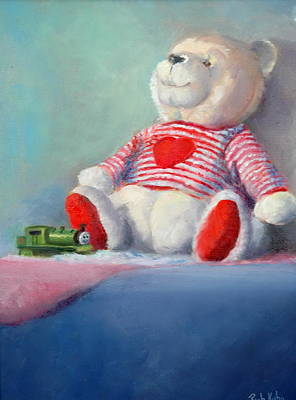 Painting - Toy Bear #1 by Rich Kuhn