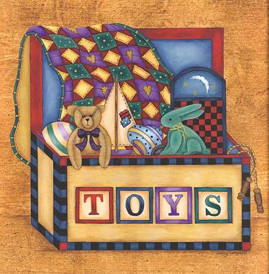 Painting - Toy Box by Tracy Campbell
