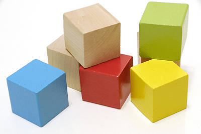Photograph - Toy Building Blocks by Charles Beeler