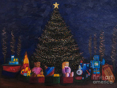 Owner Painting - Christmas Toys by Iris Richardson