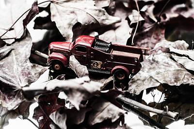 Toy Fire Truck Art Print